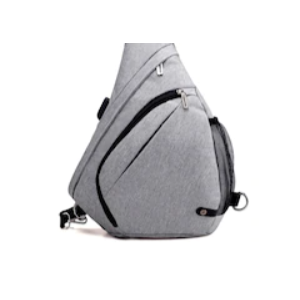 Enjoy 54% Off On HUWAIJIANFENG Men Chest Bag with USB Charging Port - Gray Goose