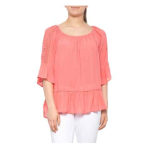Grab 29% Off On Fever Peplum Shirt - 3/4 Sleeve (For Women)